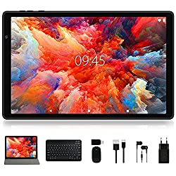 """""""Facetel Q3 Pro 10 inch Tablet, Octa-Core Processor, Android 9.0 Pie, 3 GB RAM 32 GB Storage 128GB Extended Memory,10 IPS HD Display,GMS Google Certification,5G Wi-Fi,Bluetooth,GPS,Metal Black"""""""