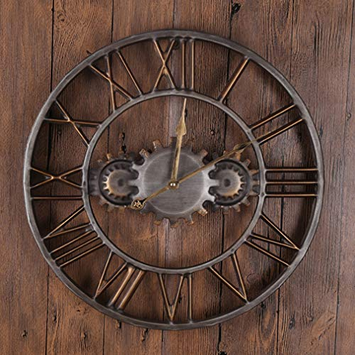 Fengfeng Wall Clock, Gears Clocks European and American Style Creative Retro...