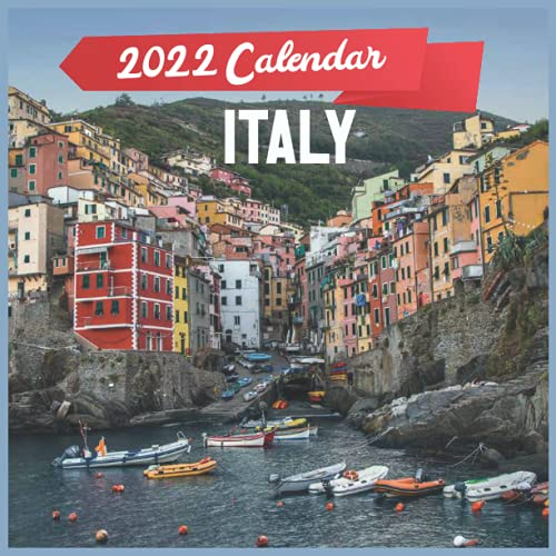 ITALY CALENDAR 2022: 12 Month Mini Calendar from Jan 2022 to Dec 2022 , Monthly Square Calendar, Travel Calendar 2022