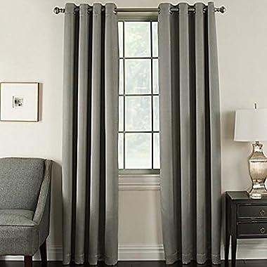 Corona Home Brinkley 95-Inch Grommet Top Room Darkening Window Curtain Panel in Flint