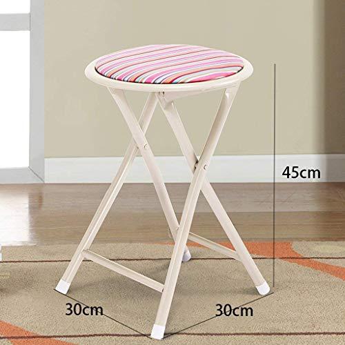 AXCJ Kleiner Sitz-Metallklapphocker Portable-Haushalts-Freizeit-Stuhl Einfacher Schemel-im Freienspeisehocker-Art- und Weisefischen-Schemel