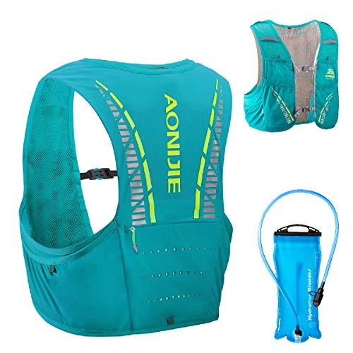 TRIWONDER 5L Trinkrucksack mit Trinkblase, Ultraleicht Laufrucksack für Marathon, Bergläufe, Radfahren (Hellblau, M/L - 83-92cm)