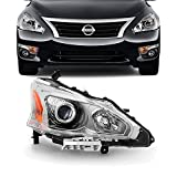 For 13-15 Altima 4 Doors Sedan Halogen Type Headlight Lamp Passenger Right Side Direct Replacement