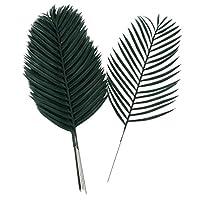 Amuzocity 12の人工植物の葉、プラスチック製の家庭用装飾品、写真の小道具