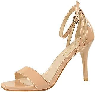 BalaMasa Womens ASL06957 Pu Heeled Sandals