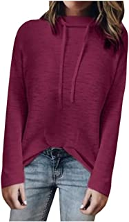 ANJUNIE Autumn Solid Color Basic Pullover High Collar Sweater Casual Loose Women Sweatshirt Top