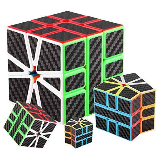cfmour Special-Shaped Puzzle Cube,Carbon Fiber Sticker Smooth Speed Rub liks Cube,Magic Cube 3D Puzzle Twist Brain Teasers Toy