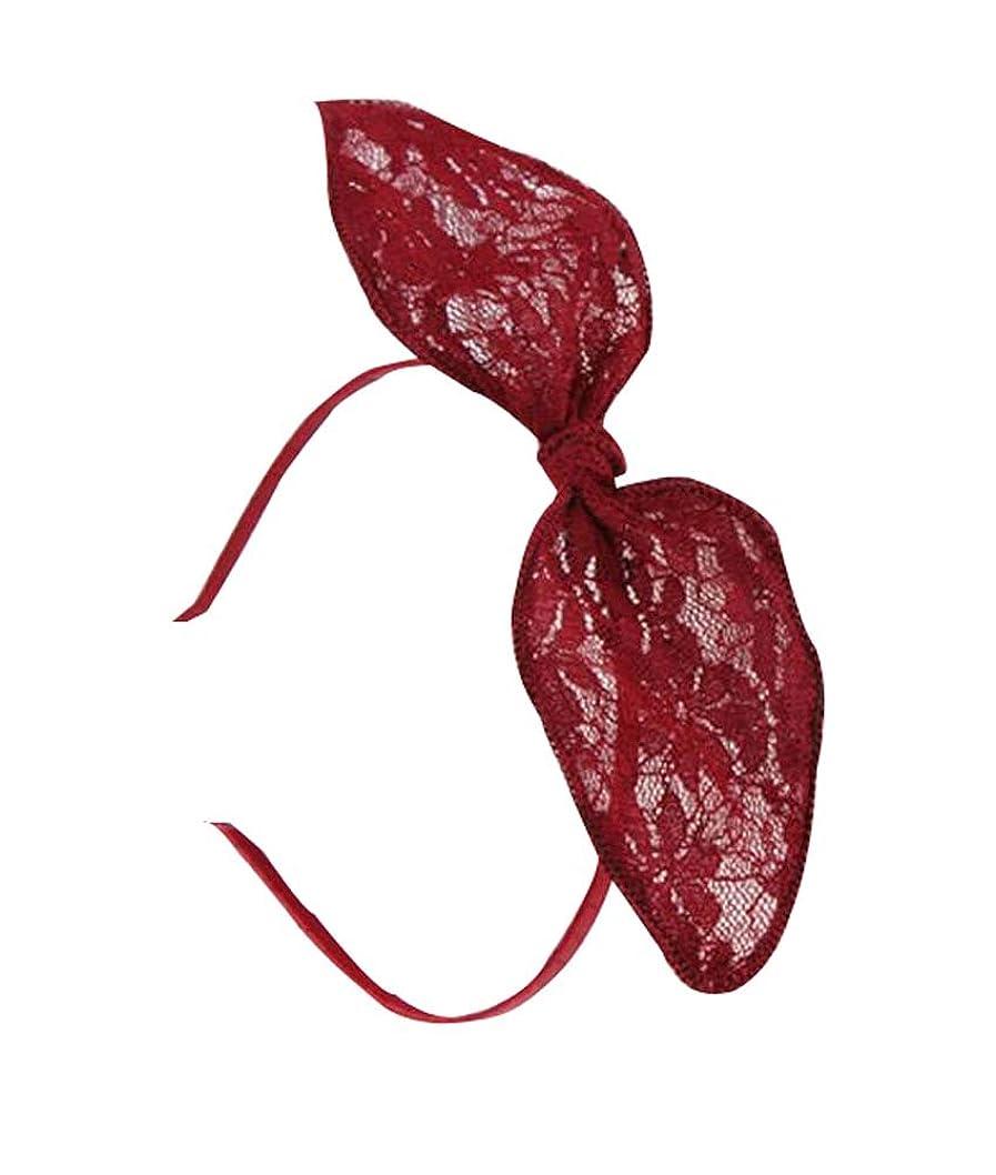 私たち農民浜辺美しいヘアバンドレースヘアピンかわいい髪の装飾品、赤