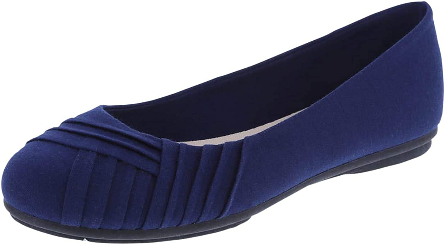 Lower East Side Women's Bree Pleated Flat shoes - Trendy & Stylish with Easy Slip On & Off (Wide and Regular Sizes)