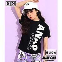 アナップキッズ&ガール ビッグタテロゴTシャツ【ブラック/S】