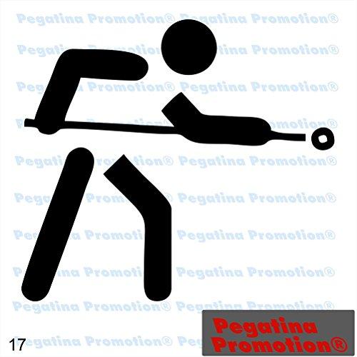 Piktogramm Typ 17 Icon Symbol Zeichen Billiard Pool Aufkleber Sticker ca.15cm von Pegatina Promotion® Aufkleber mit Verklebehilfe von Pegatina Promotion® ohne Hintergrund geplottet