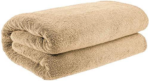 Sábanas de baño extragrandes de lujo (90 x 180 cm), 100% algodón egipcio peinado 700 g/m², color beige