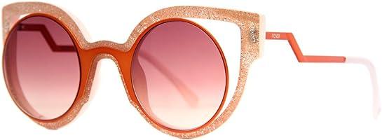 نظارة شمس بعدسات شكل عين القطة حمراء للنساء من فيندي - برتقالي