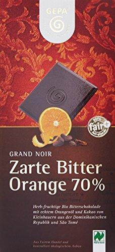 GEPA Grand Noir Bio , Orange 70%, 10er Pack (10 x 100 g)