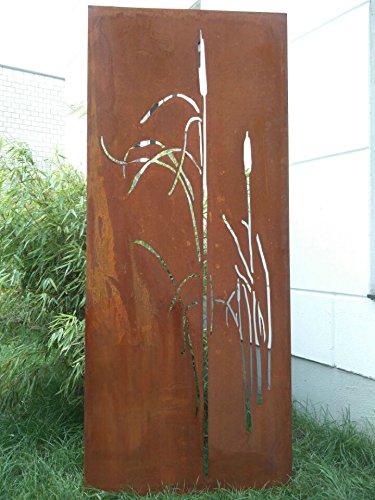 Zen Man Garten Sichtschutz aus Metall Rost Gartenzaun Gartendeko edelrost Sichtschutzwand 031477-3 150 * 75 * 2cm