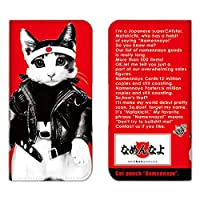 Xperia XZ3 SOV39 ケース 手帳型 スマホケース カードケース 収納ポケット カードポケット エクスペリア カバー/なめねこ なめ猫 ネコ