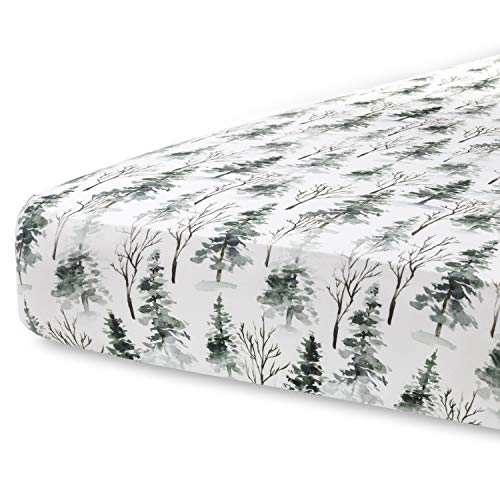 Pobi Baby - Premium Fitted Crib Sheets for Standard Crib Mattress - Ultra-Soft Cotton Blend, Stylish Woodland Pattern, Safe and Snug for Baby (Magical-Woods)