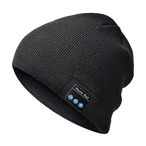 WUHUHAI Bluetooth Mütze mit Kopfhörern Bluetooth Musik Hut Wireless Mütze Ausgestattet mit Bluetooth 5.0 Superior für Herren&Frauen Sport, Weihnachten Geschenk, Geburtstags Geschenk