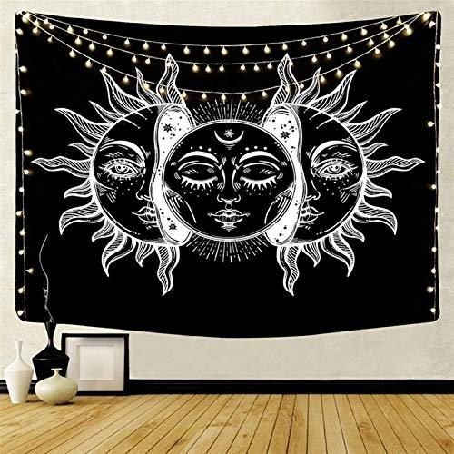 Gu3Je Moda Indio Mandala tapicería de la Pared for Colgar la Luna del Sol Tarot Pared Colgante Tapiz psicodélico Tapiz brujería Pared de la tapicería de Tela para la decoración de la habitación