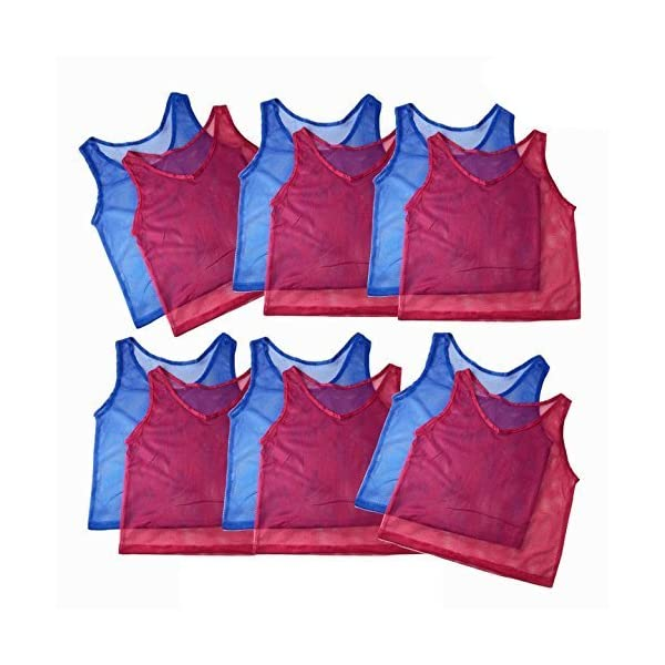 Tytroy 12 Pinnies Youth Practice Team Jerseys Mesh Scrimmage Training Vest Kids Sports