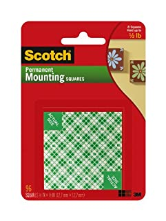 Scotch Mounting, Fastening & Surface Protection, White, Scotch Indoor Mounting x 1/2-inch, 96-Squares (111-SML), 1-Pack (B00347A876)   Amazon price tracker / tracking, Amazon price history charts, Amazon price watches, Amazon price drop alerts