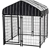 Selva Large Pet Resort Welded Wire Kennel Cage Enclosure Playpen for Dog Canine Animal | Sturdy Modular Design Heavy Duty Steel Waterproof Rain Snow | For Basement Deck Patio Outdoor Fun Play Backyard