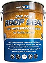 Bond It Seal It Liquid Membrane, Professional-Grade Hybrid Coating for Roof Patches & Repairs, 100% Waterproof, High Elasticity, All Weathers, Solvent-Free, Non-Flammable, Easy & Safe, 5.28 Gal, White