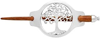 Biddy Murphy Celtic Hair Accessories Silver Plated & Wooden Pin Made in Ireland