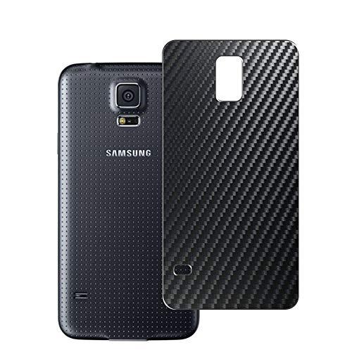 Vaxson 2 Unidades Protector de pantalla Posterior, compatible con Samsung Galaxy S5 Neo, Película Protectora Espalda Skin Cover - Fibra de Carbono Negro