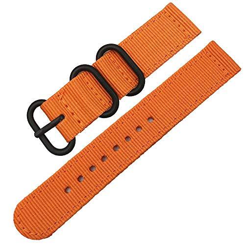 Correa De Reloj Pulsera de diseño de Nylon de Pulsera Pulsera de diseño de Dos Piezas para 18 mm 20 mm 22 mm 24 mm Ancho de la Moda de la Moda de los Hombres Nylon