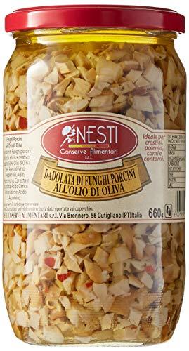 Nesti Conserve Alimentari Dadolata Funghi Porcini all' Olio di Oliva - Pacco da 6 X 660 g
