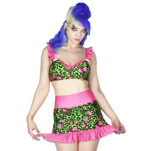 Too Fast Brand Bikini Strawberry Green-pink L
