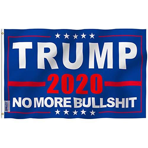 Anley Fly Breeze 3x5 Fuß Donald Trump 2020 Flagge - Lebendige Farbe und UV-beständig - Canvas Header und doppelt genäht - Keine Bullshit-Flaggen mehr Polyester mit Messingösen 3 x 5 Ft