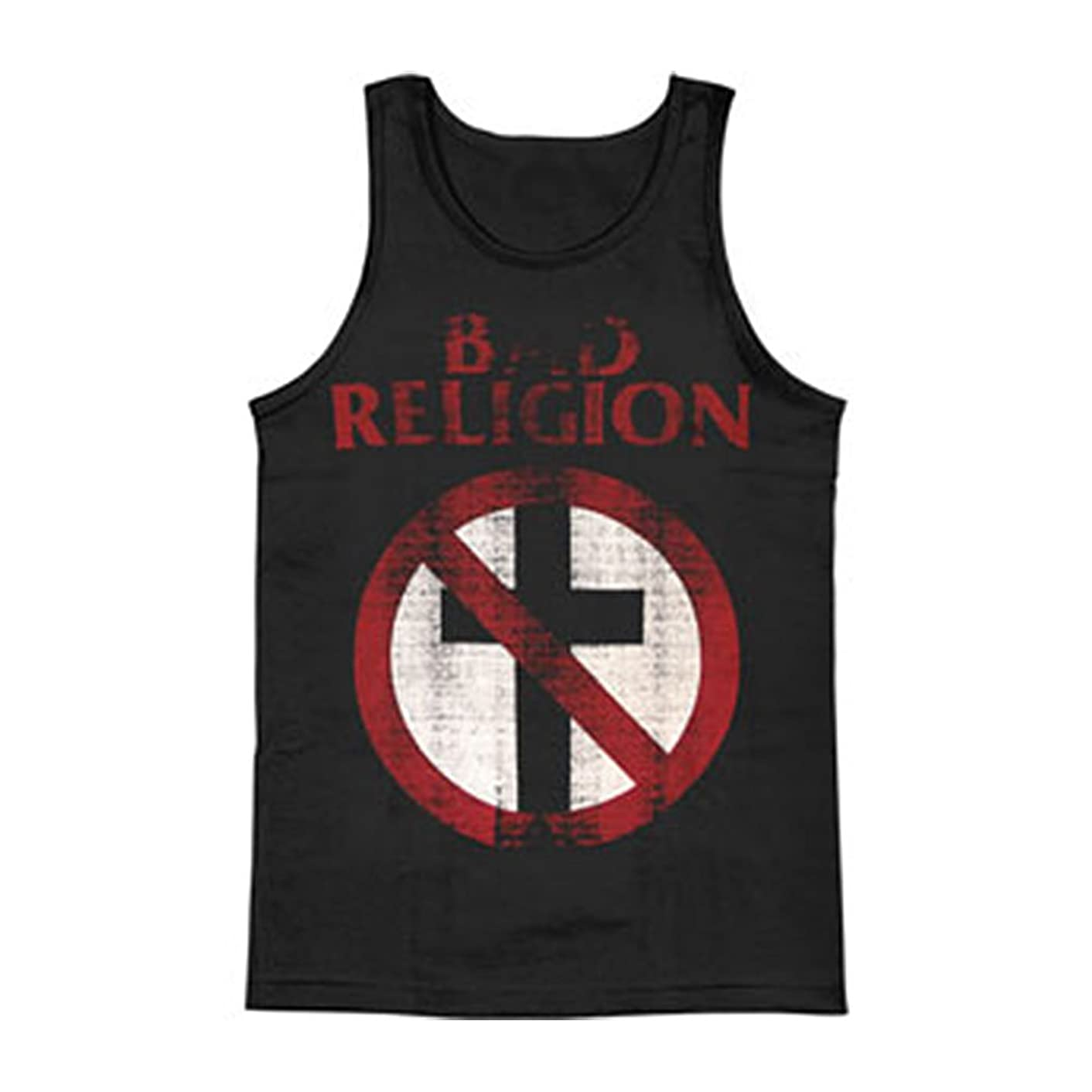 Rockabilia Bad Religion Men's Distressed Crossbuster Mens Tank Black