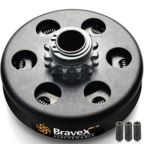 Bravex Centrifugal Clutch 3/4' Bore #35 Chain 12T 12 Tooth for Go Kart Mini Bike Engine 3/4 Bar,Up to 6.5 HP