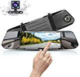 Mirror Dash Cam Front and Rear Camera Lens 1080P 7 Inch Full HD