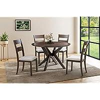 Abbyson Living Melania 5-Piece Wood Dining Set (WF-712-ES-5PC) (Espresso)