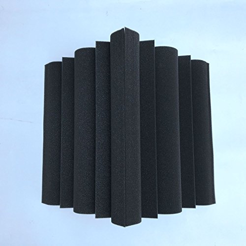 SODIAL 4 pcs coin de Bass Trap panneau acoustique mousse d'absorption acoustique de studio 12 x 12 x 24 cm