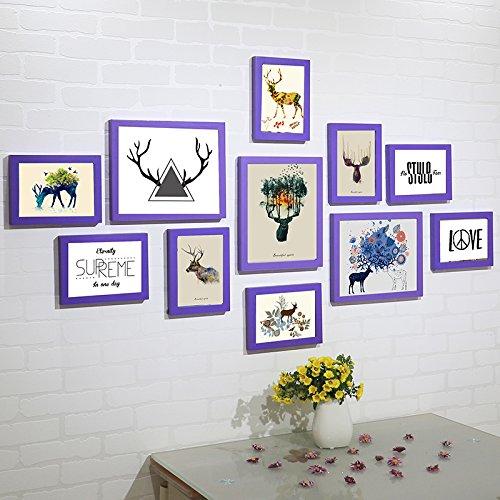 Fotolijst* Houten fotolijst, fotowand, Nordic sofa, fotolijst, paars, de eland pen Core