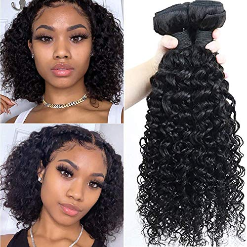 IFLY tissage brésilien court bouclé Lot de 3 tissage bresilien boucle cheveux naturel bresilienne vierges de tissages Lot de 70 g/Extensions de cheveux humains 210g total(12 12 12pouces)