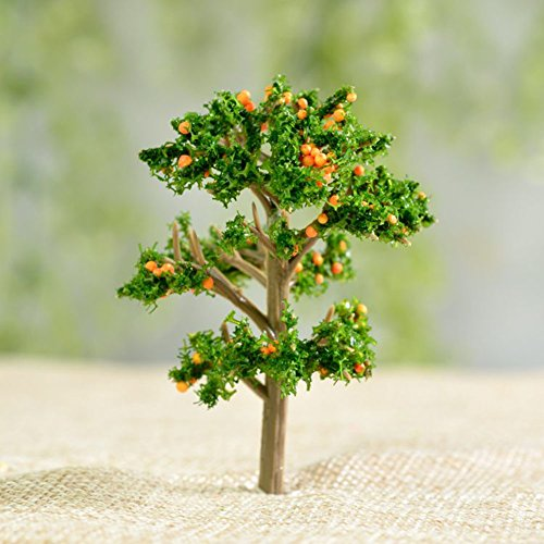 Home-organizer Tech Artificial Mini Tree Miniature Fairy Home Garden Ornament Figurines Flower Pot Succulents Plant House Decor Bonsai Resin Craft Dollhouse Micro Landscape Decor