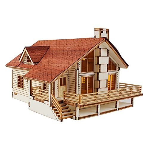 Desktop Wooden Model Kit Garden House A with a Large Deck by YOUNGMODELER by...