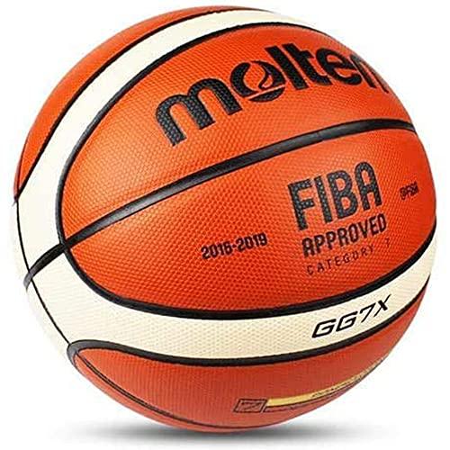 Molten GG7X Official Size #7 PU Leather in/Outdoor Training Basketball Match Ball FIBA Basketball Size 7