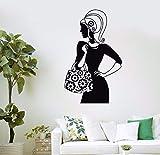 Tianpengyuanshuai Sac Shopping Shopping Fille Mode Femmes Salon de beauté Sticker Mural Magasin de vêtements Vinyle Sticker fenêtre Verre Chambre décoration 42x68cm