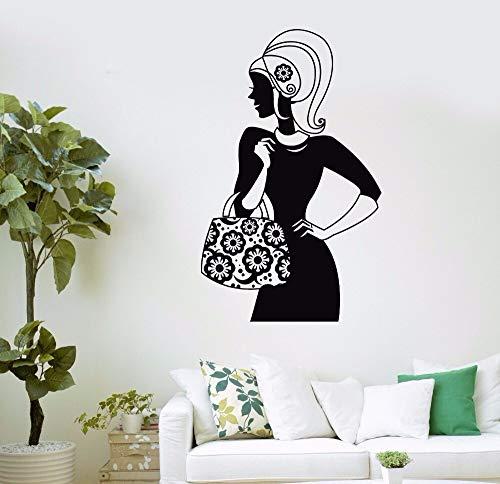 Yaonuli Shopping Muurstickers voor meisjes, vrouwen, schoonheidssalon, muurstickers voor kleding, vinyl, muursticker, kamerdecoratie