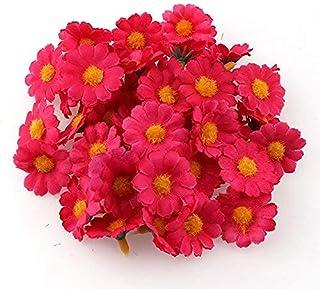 PAKUES-QO Faux Bouquet 100 Pc/Lot 2.5 Cm Mini Marguerite Fleur Décorative Fleurs De Soie Artificielles Fête De Mariage Déc...
