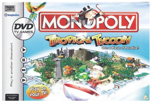 Monopoly Tropical Tycoon DVD Game by Hasbro