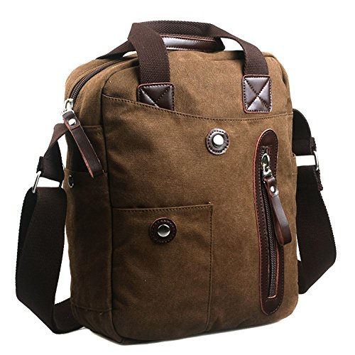 MiCoolker Men's Canvas Business Handbag Messenger Bag Retro Briefcase Computer Bag