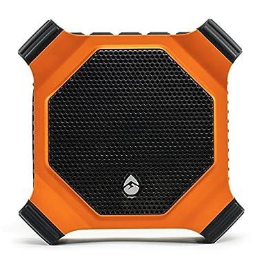 ECOXGEAR EcoDrift Rugged & Waterproof Wireless Bluetooth Speaker with Integrated Siri & Google voice control - Orange