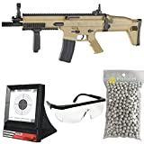 PC Softair Pacchetto Completo con Accessori - Fucile per Softair, Modello FN Scar L Cybergun, a...